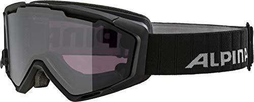 Alpina Erwachsene Skibrille Panoma Magnetic QL. Black matt, One Size -