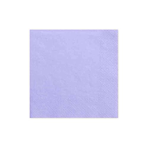 jakopabra Servietten 33 x 33 cm 3-lagig aus Papier (lila)