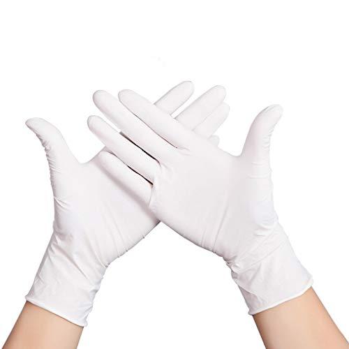 ZfgG Nitril-Handschuhe, medizinische Qualität, S M L XL, puderfrei, latexfrei, Eudemic, medizinische Grade Einweg-Untersuchungshandschuhe, beidhändig, Veterinär Tiergesundheit, 100 / Box (größe : L)