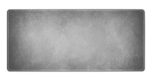 Silent Monsters Tapis de Souris XXL (900 x 400 mm) Mouse Pad Grand, Motif Gris, approprié pour Souris de Bureau et Souris de Gaming