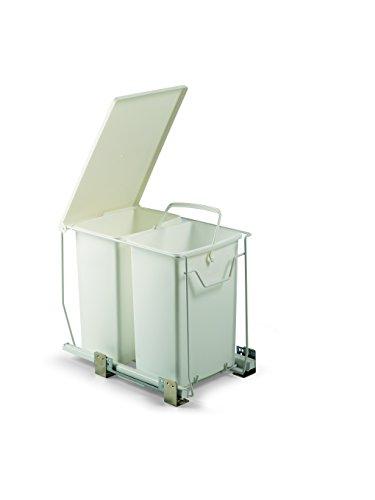PATTUMIERA ESTRAIBILE A 2 SECCHI DA 18 litri cad. ART. 169425GV