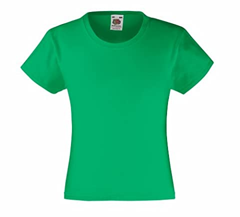 Fruit of the Loom Girls Value T-shirt Kelly 9-11