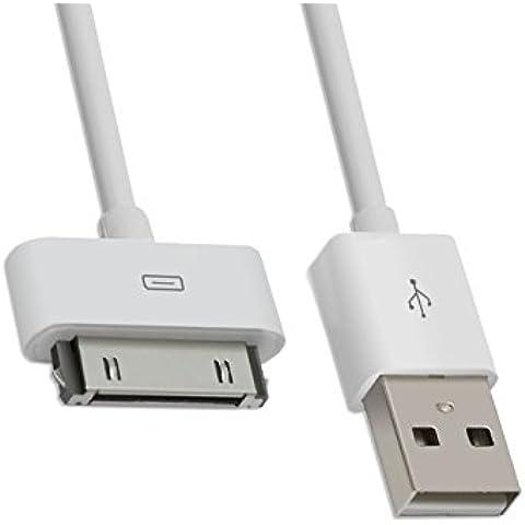 Para iPhone 4,4S, 3GS, 3G, iPod touch,iPad 2 USB Cargador y Cable de Datos-Color blanco