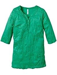 Sheego  Damen Shirt Top Oberteil Freizeit Bluse White Sommer Weiss 3 4-Arm NEU