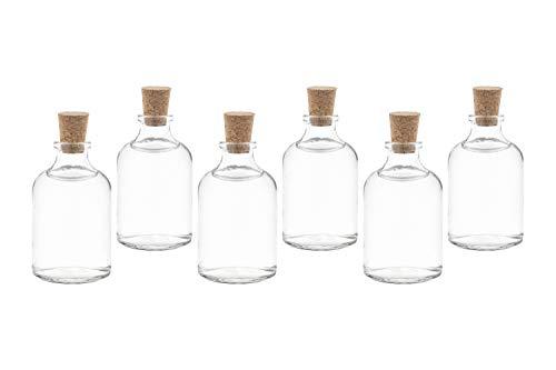 casa-vetro 25 x 50 ml Mini Bottles kleine Glasflaschen mit Korken Flaschen Fläschchen 25 50 100 cc (25 x 50 ml)