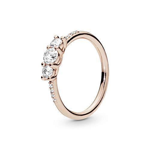 Pandora Damen-Ringe 925 Sterlingsilber zirkonia '- Ringgröße 56 186242CZ-56 (Pandora Ringen Charms,)