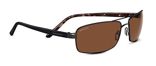 Serengeti Eyewear Sonnenbrille San Remo, Satin Dark Brown/Black Tortoise, M/L, 7609
