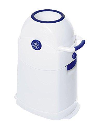 Diaper Champ 3041 R - Cubo de basura para pañales, tamaño pequeño, color azul y blanco