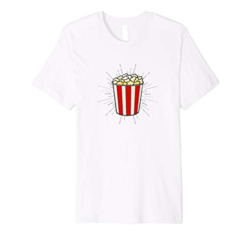 Popcorn T-Shirt - Popcorn Kostüm Damen Kino Retro Geschenk