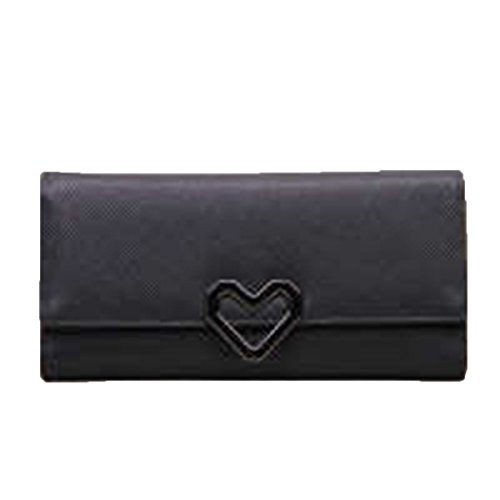 WU Zhi Lady In Pelle La Posizione Multi-card Portafogli Portamonete Black