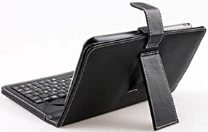 NEW Synthetic Leather Case With Standard USB Keyboard For 7 Inch Android Apad Epad MID Tablet PC - BLACK