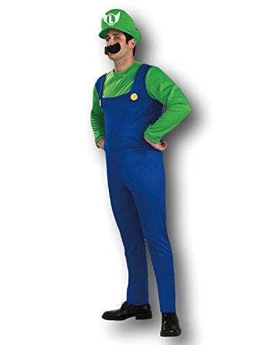 Erwachsenen Mario Bros Kostüm Luigi Verkleidung - Grün ()