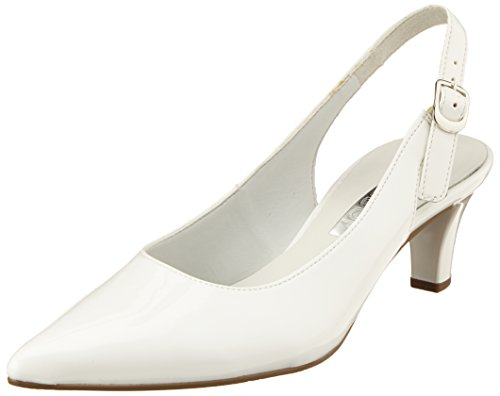 Gabor Shoes Damen Fashion Pumps, Weiß (Weiss+Absatz), 40.5 EU
