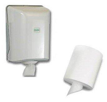 Handtuchspender Papierspender mit Innenabrollung plus 1 Handtuchrolle