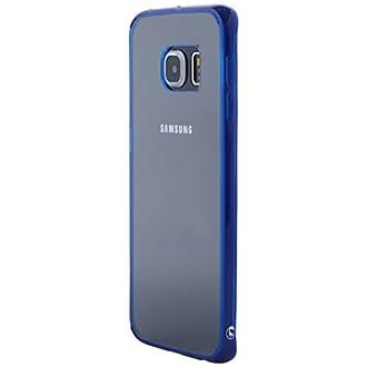 Ultratec 331400000556 Housse de protection hybride pour Galaxy S6 Edge Transparent/Bleu