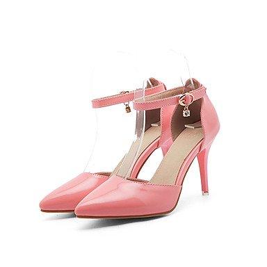 LvYuan Da donna-Sandali-Ufficio e lavoro Formale Casual-Comoda-A stiletto-Finta pelle-Rosa Rosso Bianco Tessuto almond almond