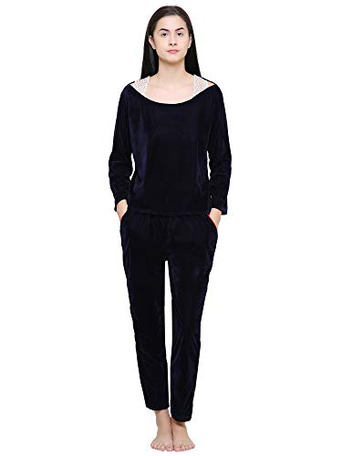 Klamotten Navy Women\'s Night Suit in Velvet