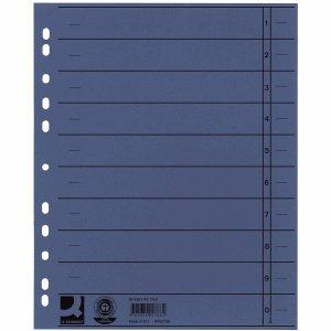 Preisvergleich Produktbild Connect Trennblätter A4 230g/qm durchgefärbt blau VE=100 Stück