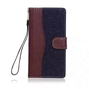 Generic Magnetic Flip Denim Leather Stand Wallet Case For SONY Xperia Z4