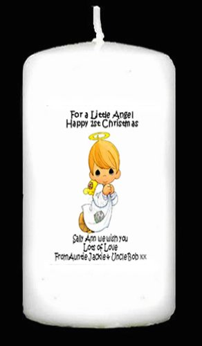 PGW Candle Babys First Christmas personalised Angel keepsake gift, its a card and a gift so its perfect.