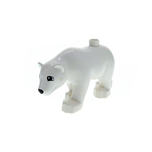 1 x Lego Duplo Tier Eisbär Bär gross weiß Zoo Zirkus Arktis Tierpark Eis dupbearc01pb01
