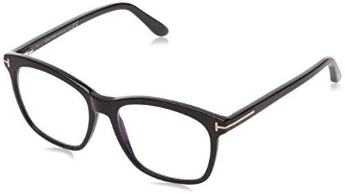 Tom Ford Unisex-Erwachsene Ft5481-b Brillengestelle, Schwarz (NERO LUCIDO), 52