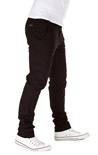 WOTEGA Herren Chino Hose Penta mit feinem Hahnentritt-Muster black (4008)