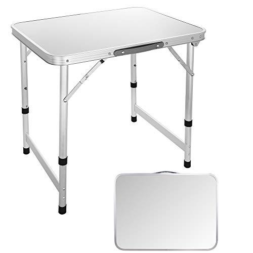 Ultrey Campingtisch Klappbar Aluminium Picknicktisch Klapptisch Camping Falttisch tragbar 60 x 45 x 55cm Nur 2.6kg