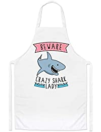 Beware Locas Tiburón Mujer Chefs Delantal