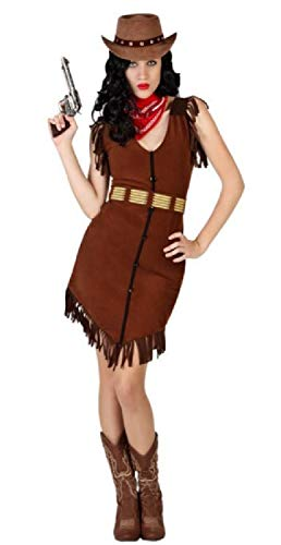 Fancy Me Damen Cowgirl Cowboys & Indianer Wild West Western Karneval Junggesellinnenabschied Kostüm Outfit UK 8-18 (Wild Outfits Für Damen West)
