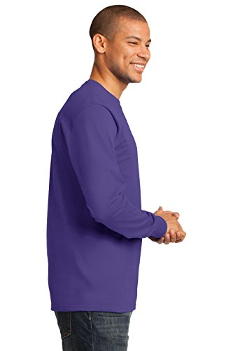 Port & Company Herren ist groß lang Sleeve Essential T Shirt Violett