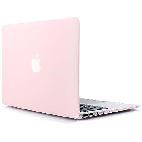 iDOO MacBook Schutzhülle / Hard Case Cover Laptop Hülle [Für MacBook Air 13 Zoll: A1369/A1466] - matt, Hellrosa