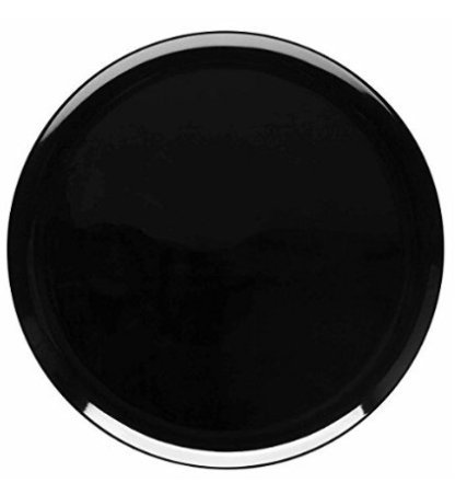 Delite Acrylic Full Dinner Plate, Round, 10.25 Inches, MIDNIGHT BLACK, set of 6 plates