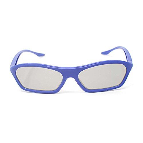 2 Paare von Erwachsenen Passive 3D Brille 1 schwarz 1 lila in Phillips einfach 3D Stil für alle passiven TV Kino und Projektoren wie RealD Toshiba LG Panasonic und vieles mehr