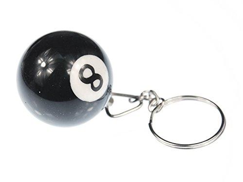Billardkugel Schlüsselanhänger Miniblings Schlüsselring Billard Schwarz 8