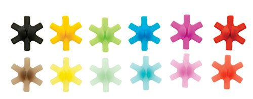 Mastrad 3485990010395 Markierungen Marke Gläser, Silikon/Polypropylen, mehrfarbig