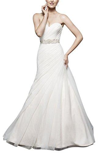 George bride semplice abito scollatura organza linea innamorato con un filato abito da sposa farfalla, taglia 48, weiss