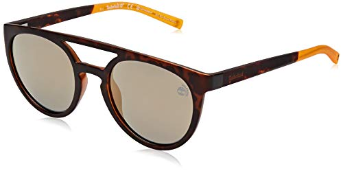 Timberland eyewear tb9163 occhiali da sole, dark havana/brown polarized, 53 uomo