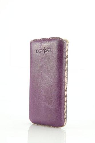 Savelli Savelli 25XL-09-G6 Lentini Ledertasche für Smartphone lila/beige