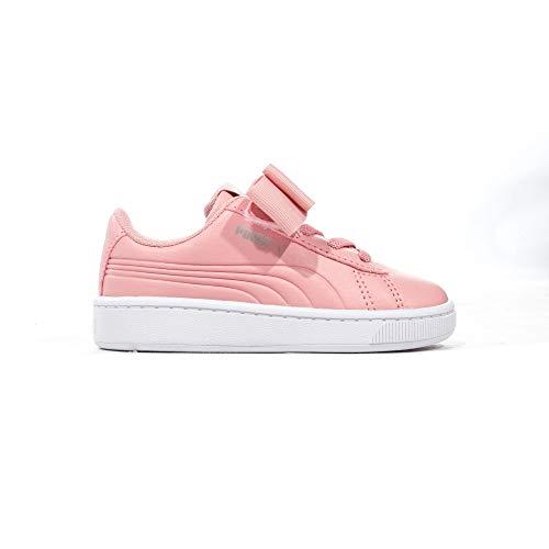 Rabatt Puma Schuhe (Puma Vikky V2 Ribbon Bow Baby Kinder Mädchen Fashion Sneaker Schuh Pink, Pink - Rose - Größe: 27 EU)