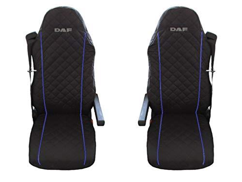 Preisvergleich Produktbild Unknow LKW DAF XF;LF 95;105 2 x LKW-Sitzbezüge Blaue Beats / 1 für den Fahrer und 1 für den Beifahrersitz