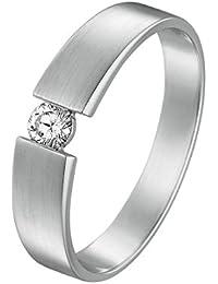CHRIST Diamonds Damen-Ring 585er Weißgold 1 Diamant ca. 0,15 ct. (silber)