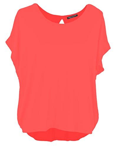 a5b4103118 Emma & Giovanni - T-Shirt Dos Ouvert (Made in Italy) - Femme (Corail, M/L)