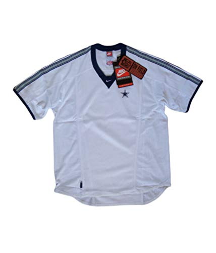 Nike Herren Trikot Dallas Cowboys NFL Official On-Field Pro Line American Football Trikot Weiß/Marineblau Original 1990er Jahre OG Vintage New M