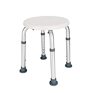 Household Drive Rotating,Medical Tool-Free Assembly Adjustable Shower Stool Tub Chair & Bathtub Seat Bench with Anti-Slip Rubber Aluminum Frame