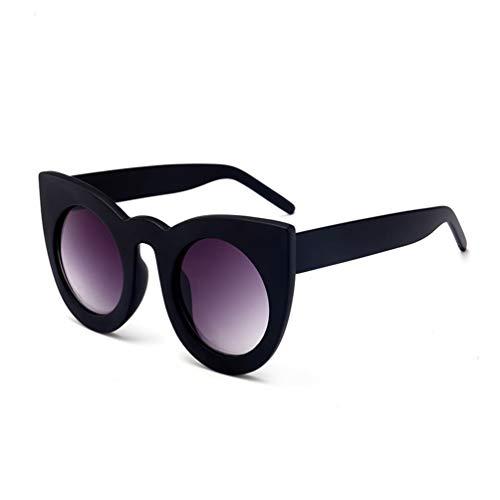 YWYU Mode Neue Cat Eye Sonnenbrillen, Coole Persönlichkeit Big Box Sonnenbrillen, PC-Rahmen UV400 Schutz für Einkaufsreisen (Farbe : B)