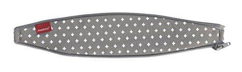 Natürliche Ellipse (bellybutton by manduca ZipIn Ellipse > WildCrosses Grey < Reißverschluss-Einsatz für die manduca Babytrage / Bauchtrage, optimiert für Neugeborene und kleine Babys, grau mit weißen Kreuzchen)