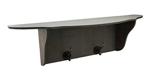 Bianco, grigio slavato legno gancio da parete