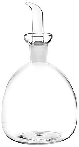 Home Huilier en forme d'ampoule, verre transparent, 0.85 L