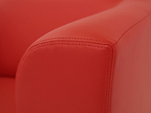 CHICAGO 2er Sofa / Ledersofa, rot - 5